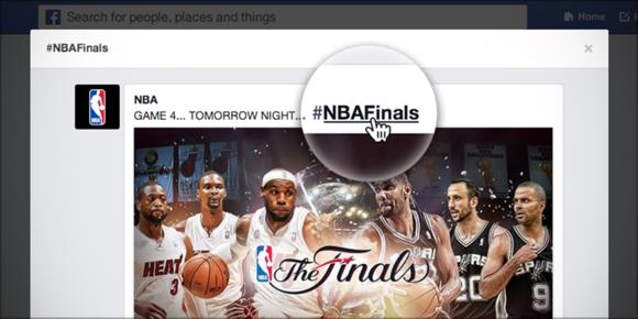 Facebook adds hashtag