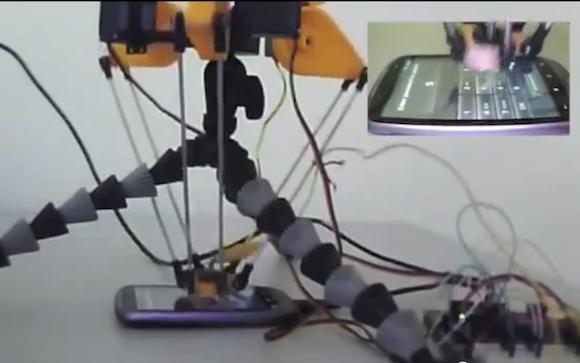 Робот, взламывающий PIN код смартфона меньше чем за сутки (видео) .