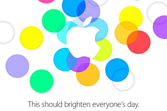 apple's colourful event