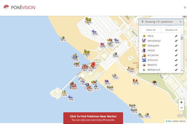 The best Pokémon Go map grabs data directly from the Pokémon Go servers