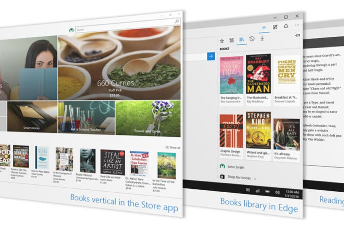 Windows 10 Insider Preview Build 15014 officially adds ebook support